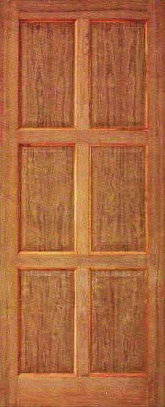 ประตูไม้ D009